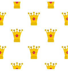 Medieval crown pattern flat vector