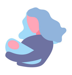 modern flat mother holding vector image