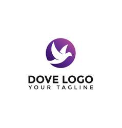 Modern flying dove bird logo design template vector