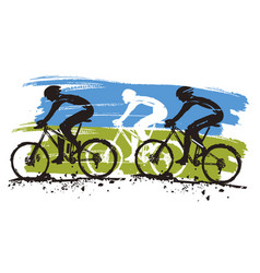 mountain bike competition vector image