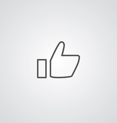 ok outline symbol dark on white background logo vector image