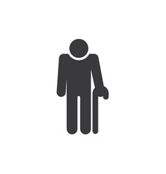 old man icon vector image