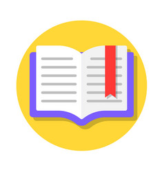 open book with bookmark vector image