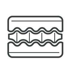 Orthopedic mattress layers isolated linear icon vector