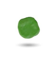 Piece of green clayround spot vector