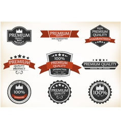 Premium Quality and Guarantee Labels with retro vector image