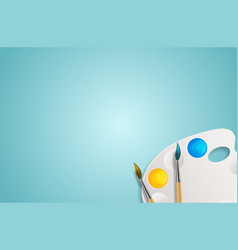 realistic 3d background tins with brush vector image