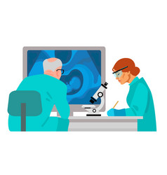 scientists in medical laboratory vector image