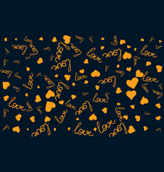 seamless pattern with handwritten love word vector image vector image