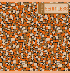 Seamless texture of orange brown and beige three vector