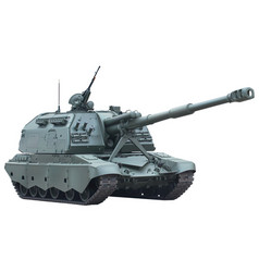 self-propelled gun vector image