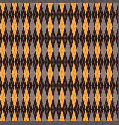 simple brown yellow pattern background with rombs vector image