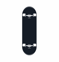 Skateboard vintage skateboard icon isolated on vector