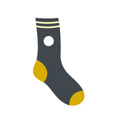 Sock icon flat style vector
