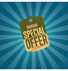 Special offer isolated sale sticker vector image