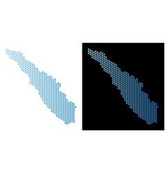 Sumatra island map hexagonal abstraction vector