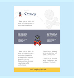 template layout for danger comany profile annual vector image