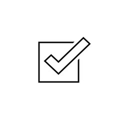 Tick icon symbol line outline checkmark vector