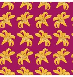 Tiger Lilies Seamless Texture vector