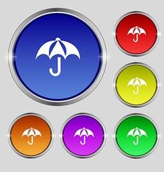 Umbrella icon sign Round symbol on bright vector