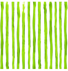Watercolor acid green stripes background vector