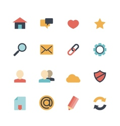 Web Icons Flat vector image