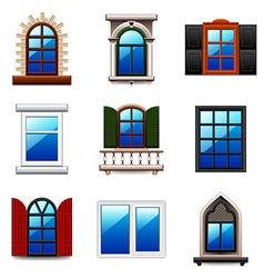 Windows icons set vector image