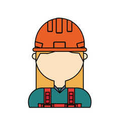 Woman avatar construction worker vect vector