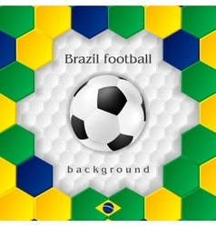Bright soccer background with ball Brazilian vector image vector image