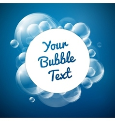 Bubbles with white circle card vector image vector image