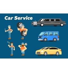 Car repair service concept banner vector image vector image