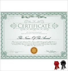 Detailed certificate vector