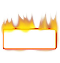 Fire Banner vector image vector image