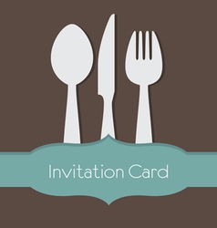 Food concept invitation card vector