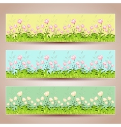 Floral banners Hand-drawn vector image vector image