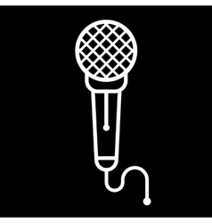 Microphone Icon on a black vector image vector image