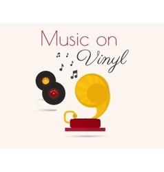 Music on vinyl vector image