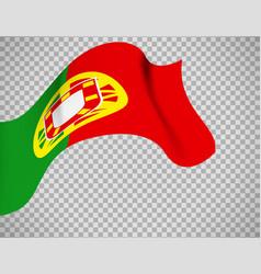 portugal flag on transparent background vector image vector image