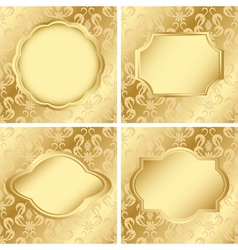 set of cards with golden texture vector image vector image