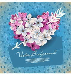 valentines heart from flowers vector image vector image