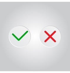 Yes or No icons vector image vector image