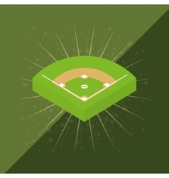 baseball game field vector image vector image