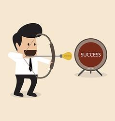 Businessman launch idea arrow vector image