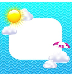 Card With Sun And Clouds vector image