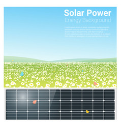 Energy concept background with solar panel 3 vector