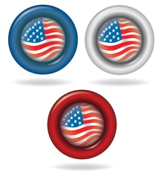 Flag of america circle shape vector