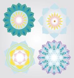 Mini Mandalas icons set vector image vector image