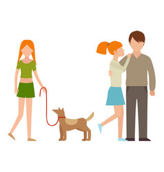 people happy family cartoon relationship vector image vector image