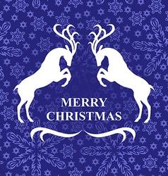 snow deer vector image