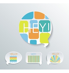 Speech bubbles with different pattern elements set vector image vector image